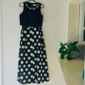 Eliza J Black Formal Skirt and Top